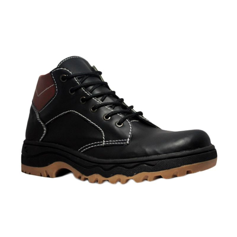 D-Island Armstrong Boots Leather Black Sepatu Pria