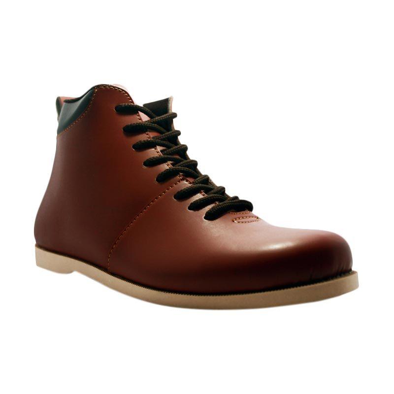 D-Island Bizarre Casual Leather Brown Sepatu Pria