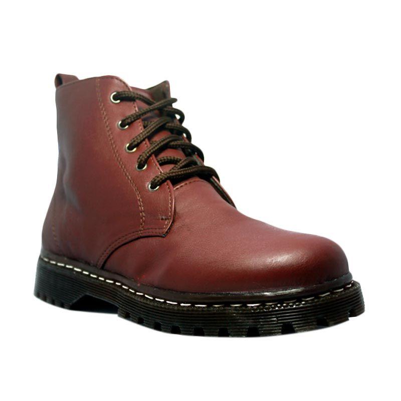 D-Island Boots Chunky High Brown Sepatu Pria
