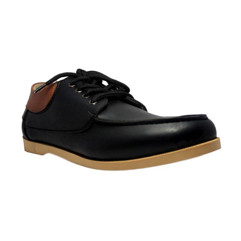 D-Island Casual Italy Loafers Black Sepatu Pria