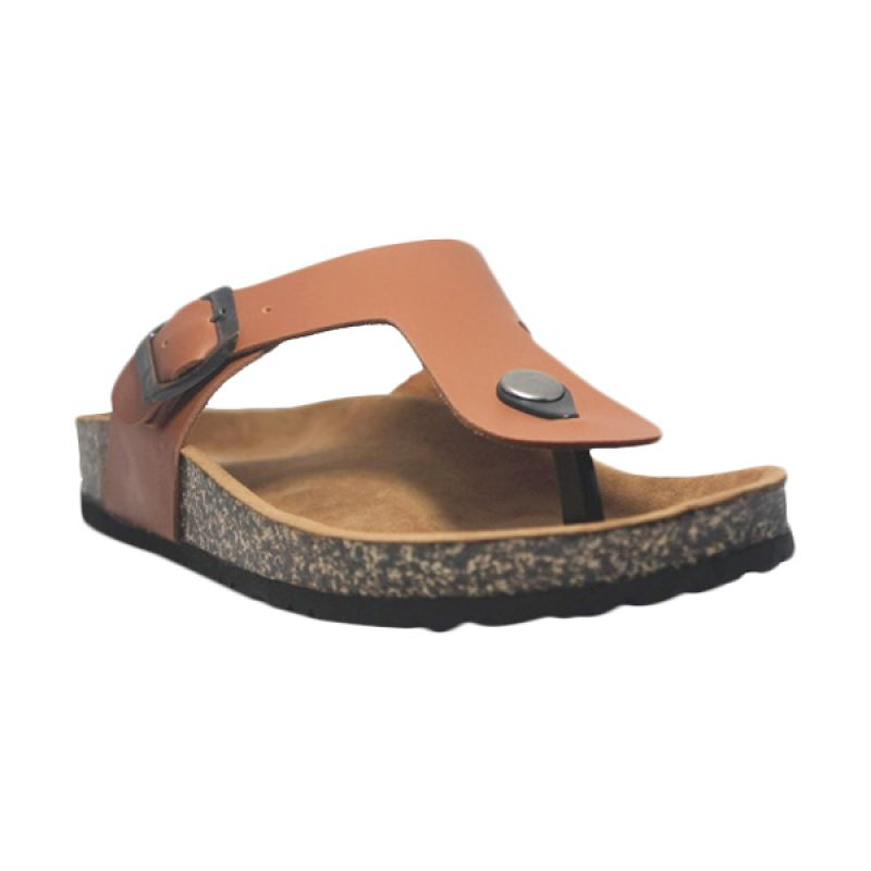 D-Island Lux Loafers Leather Brown Sandal Pria