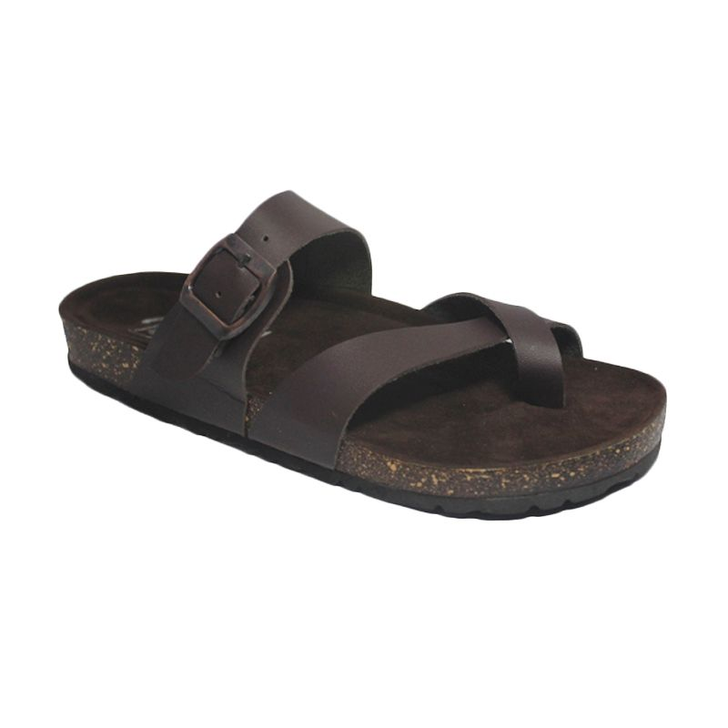 D-Island Puyu Loafers Leather Dark Brown Sandal Pria