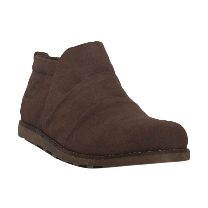 D-Island Shoes Boots Portland Slip On Leather Brown
