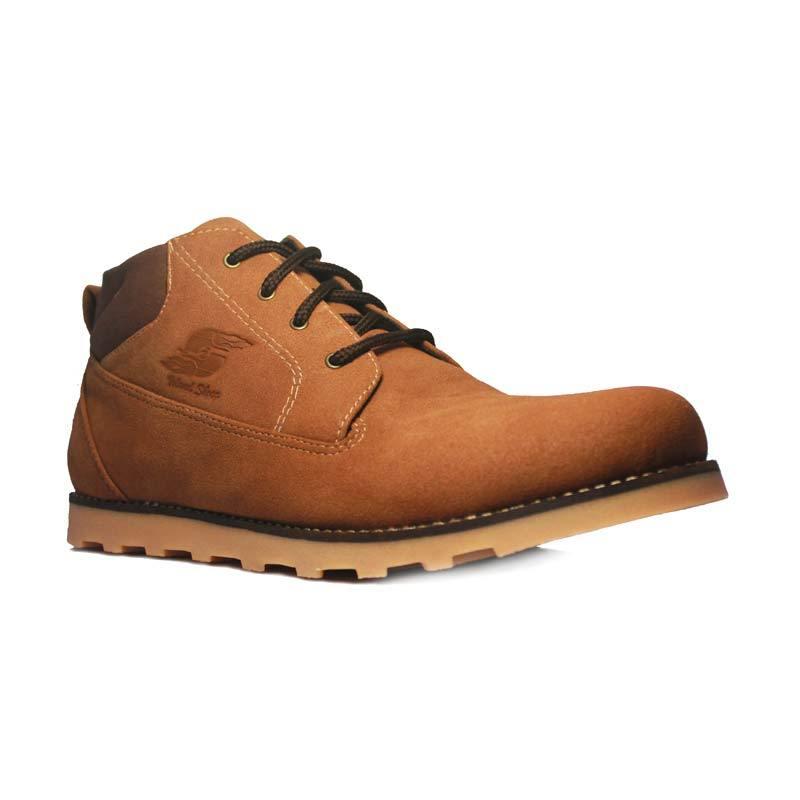 D-Island Shoes Boots Top Velvet Leather Coklat
