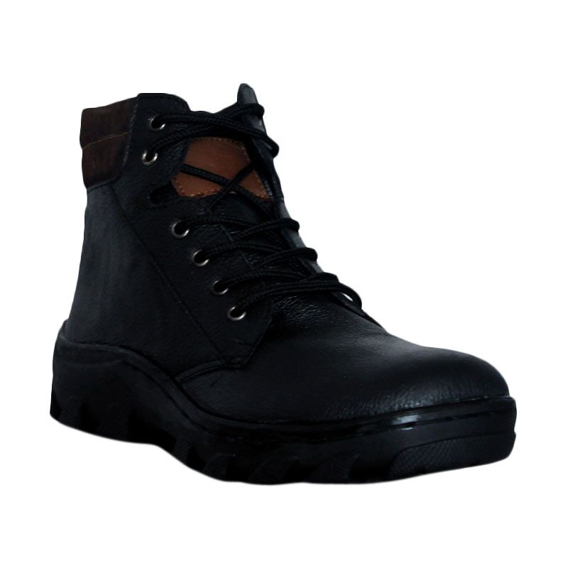D-Island Shoes Boots Trekking Genuine Leather Black