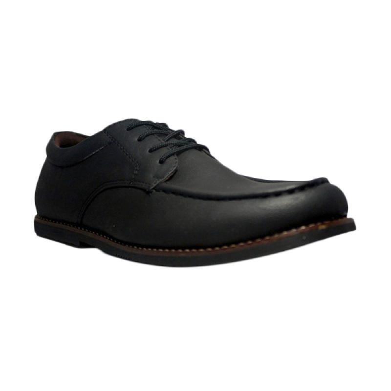D-Island BozZ Oxford Leather Black Sepatu Pria