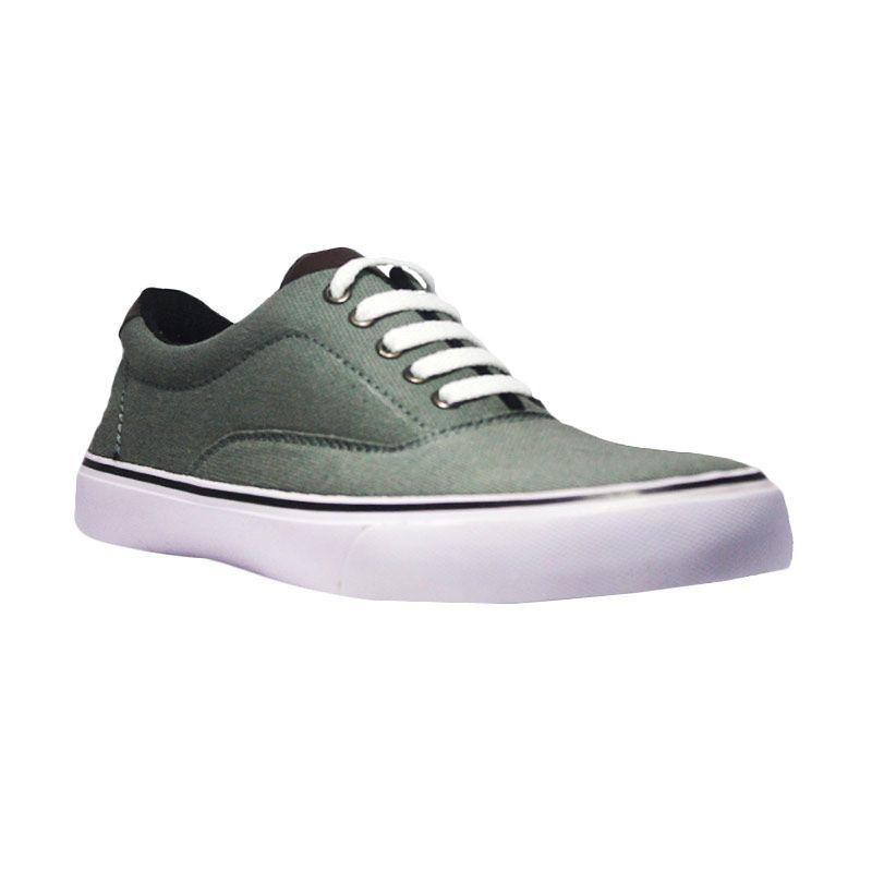 D-Island Shoes Casual Loafers Low Canvas Abu-Abu Sepatu Pria