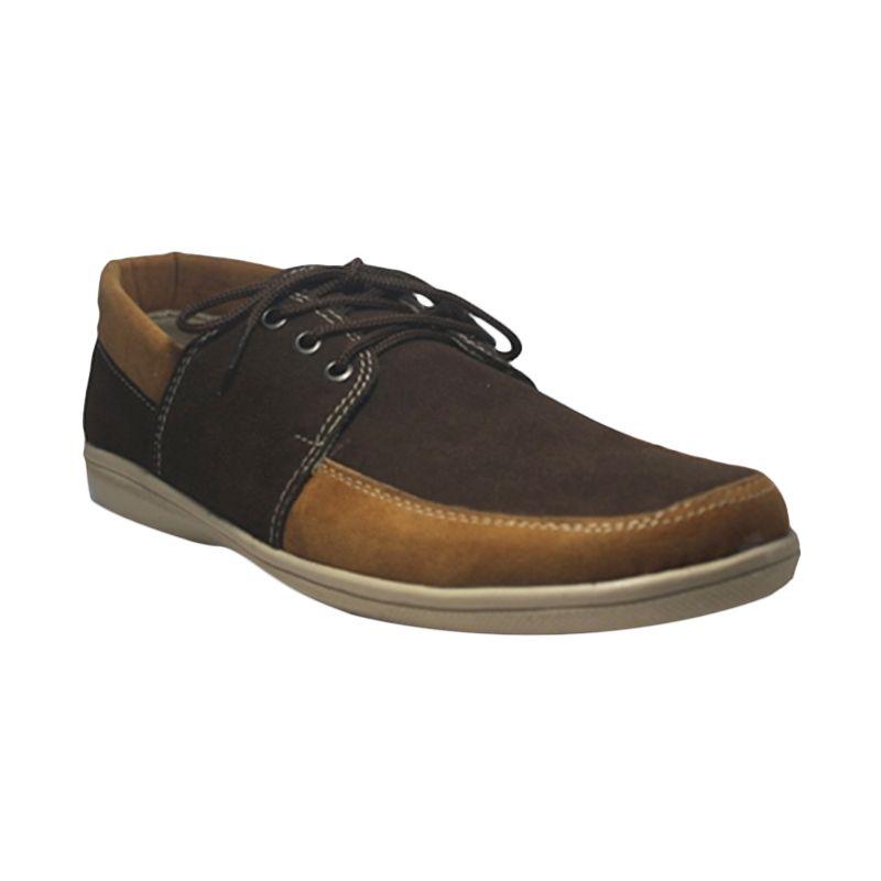 D-Island Oxford Breathable Suede Leather Sepatu Pria