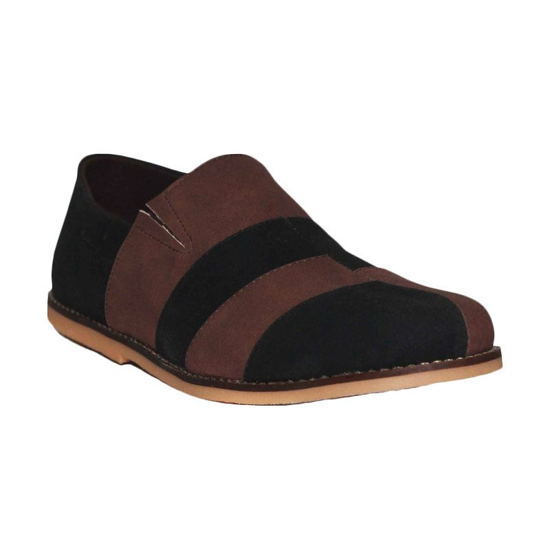 D-Island Shoes Casual Slip On Alloy Brown Black