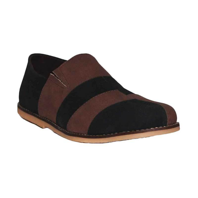 D-Island Shoes Casual Slip On Pidodido Leather Brown Sepatu Pria