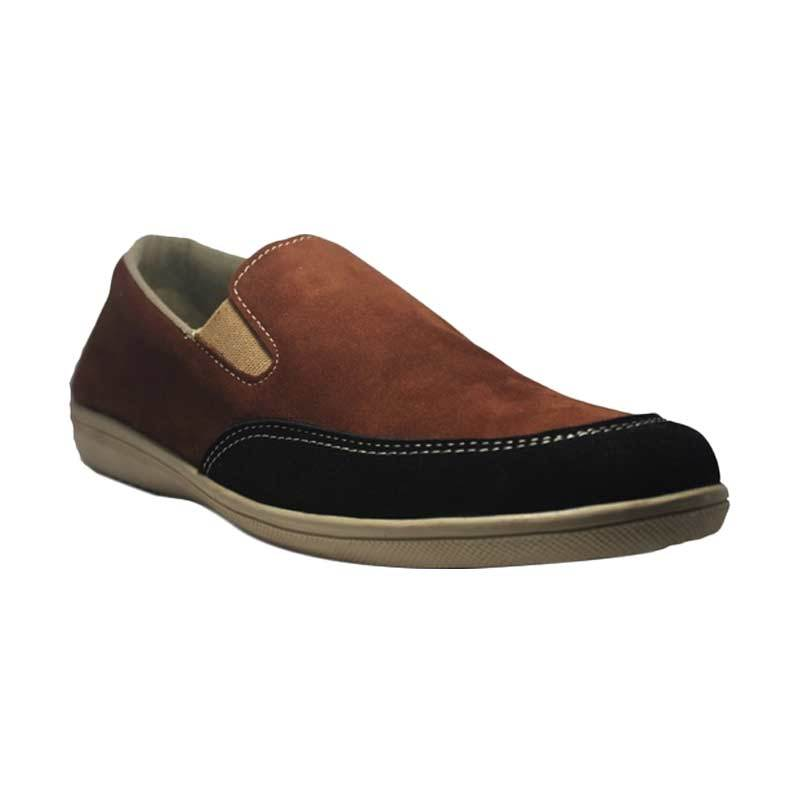 D-Island Shoes Flat Bizarre Casual Oxford Brown Sepatu Pria