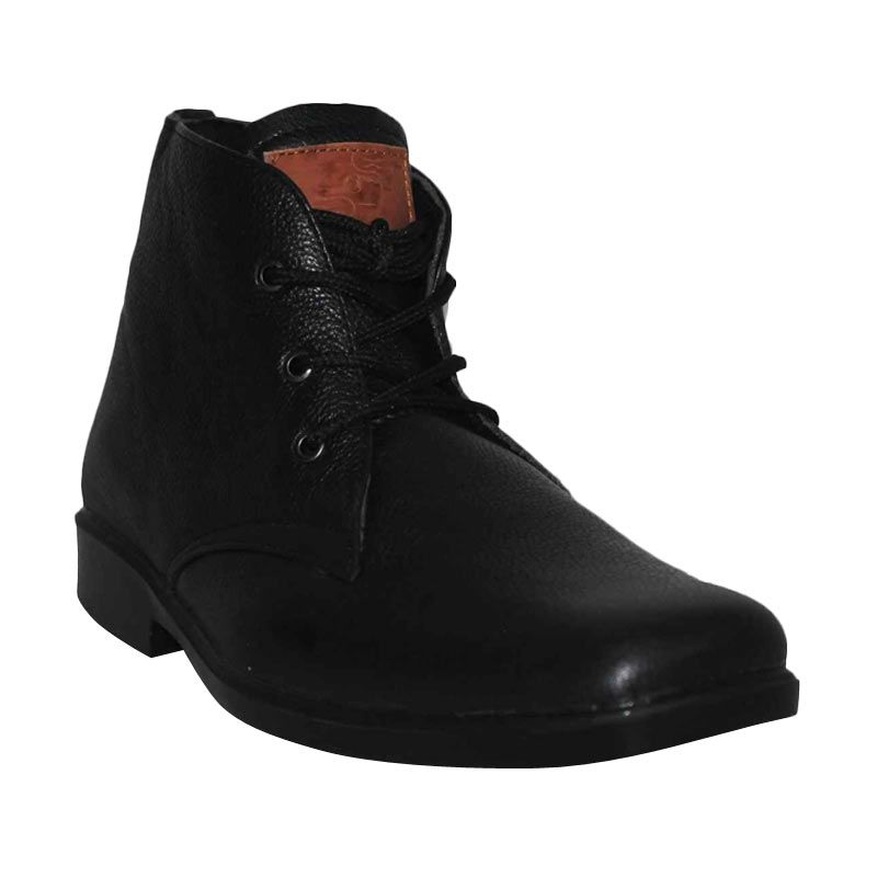 D-Island Shoes Formal High Premium Genuine Leather Black