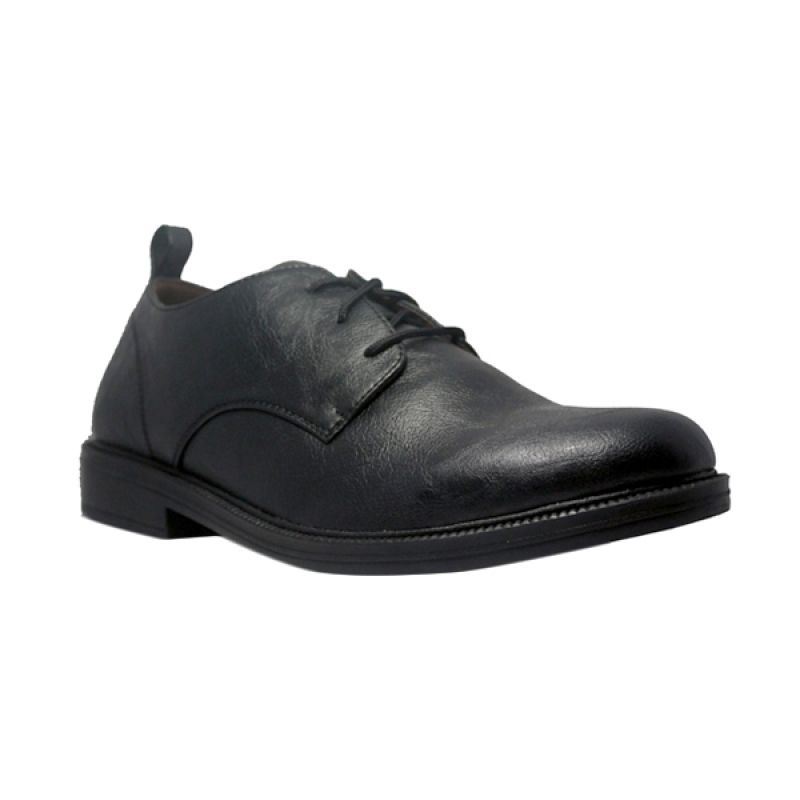 D-Island Formal Loafers Eagle Leather Black Sepatu Pria