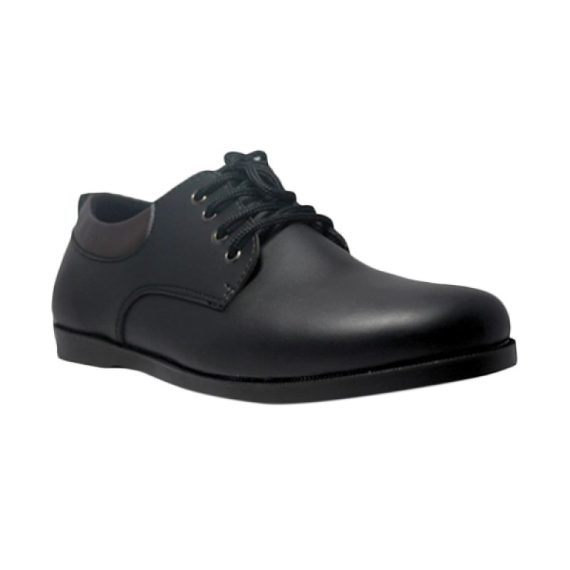 D-Island Formal Muller Luxury Leather Black Sepatu Pria