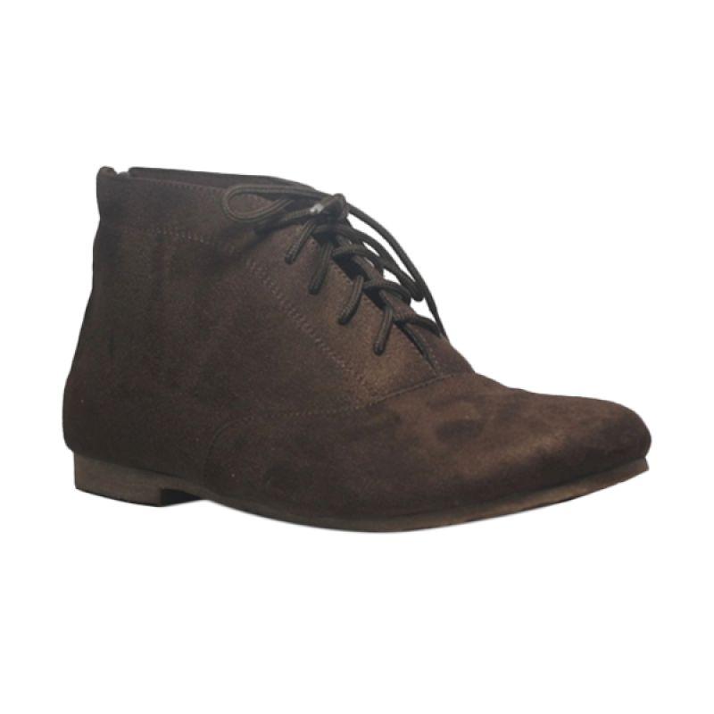 D-Island Cute High Brown Sepatu Boot Wanita