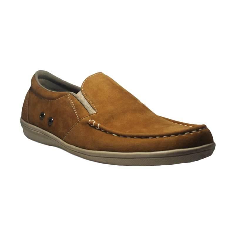 D-Island Shoes Onion Slip On Bizarre Oxford Soft Brown Sepatu Pria