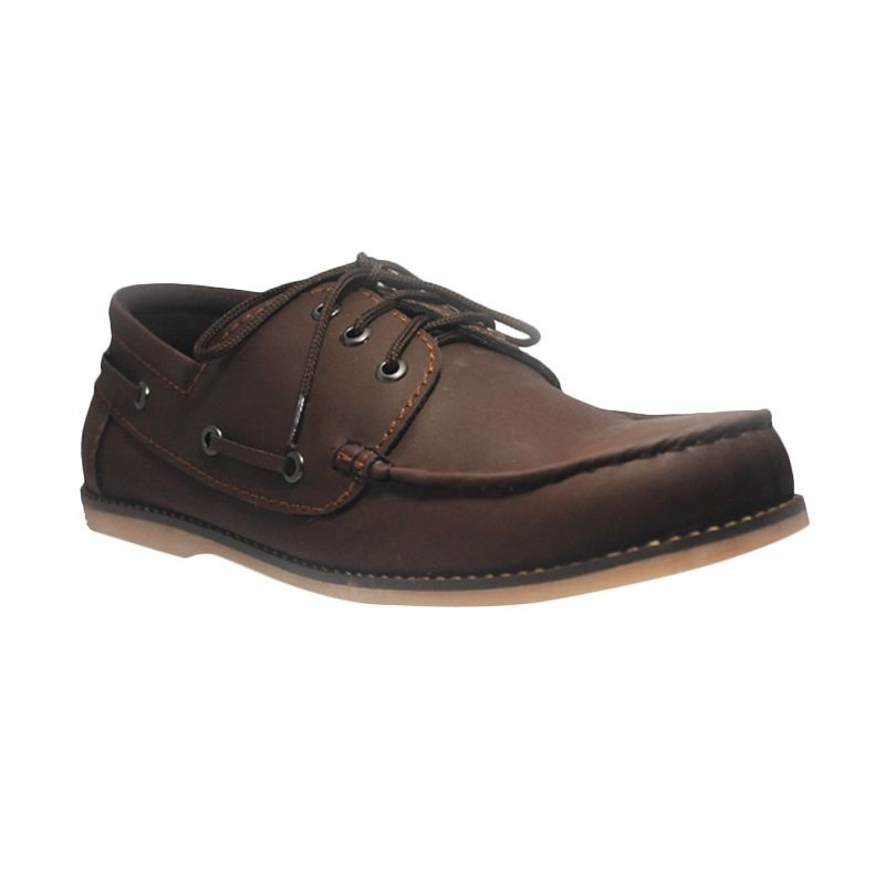 D-Island Shoes Oxford Davis Smooth Leather Brown Sepatu Pria