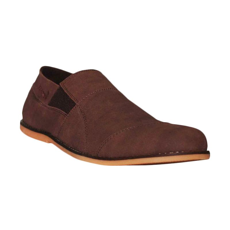 D-Island Shoes Slip On Brown Loafer Soft Leather