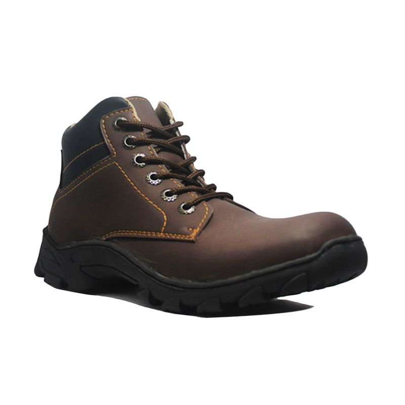 D-Island Shoes Soul Comfort Leather Brown Sepatu Boot Pria