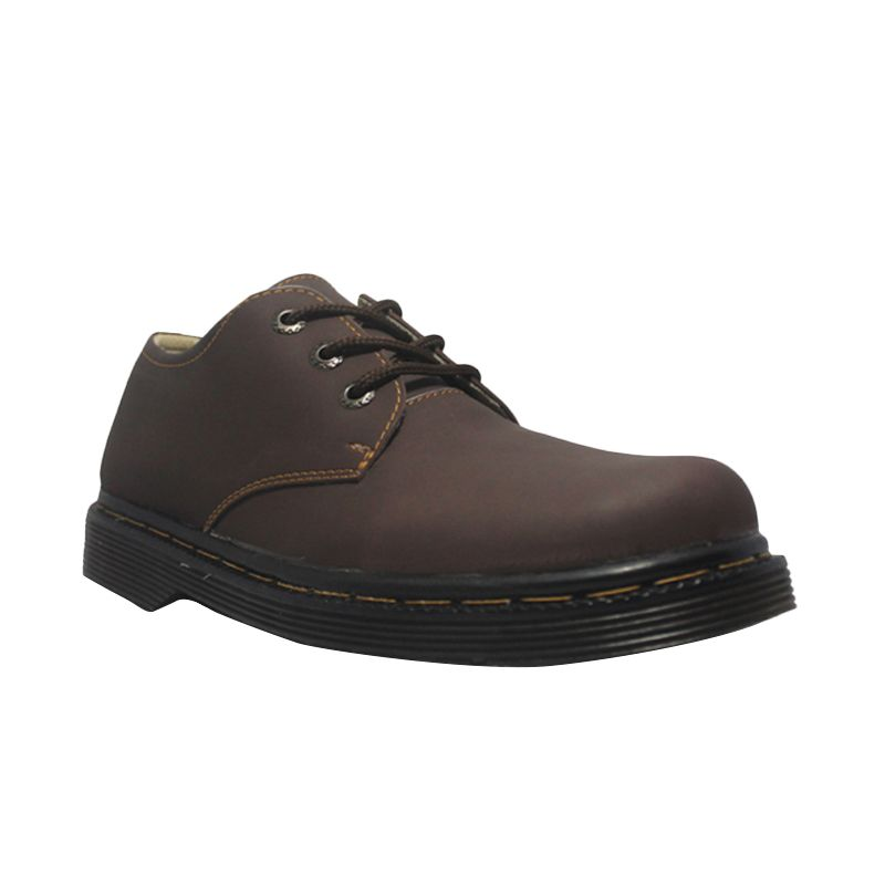 D-Island Shoes Style Hikers DM Mens Leather Brown Sepatu pria