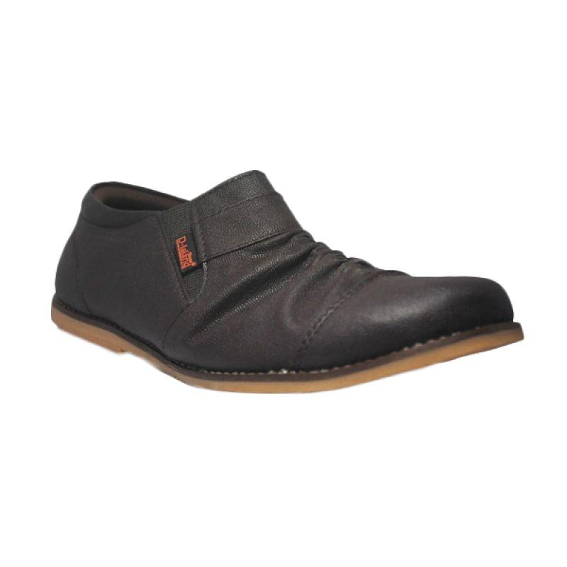 D-Island Slip On Premium Wrinkle Leather Brown Sepatu Pria