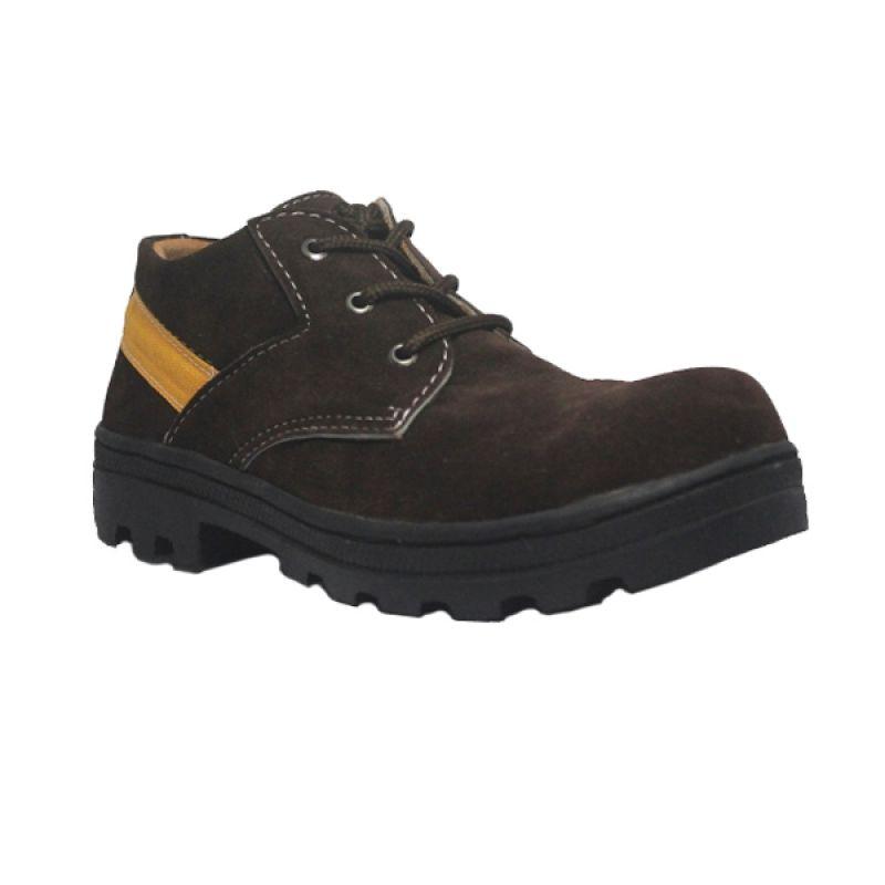 Handmade Cut Engineer Safety Boots Classic Brown Sepatu Pria