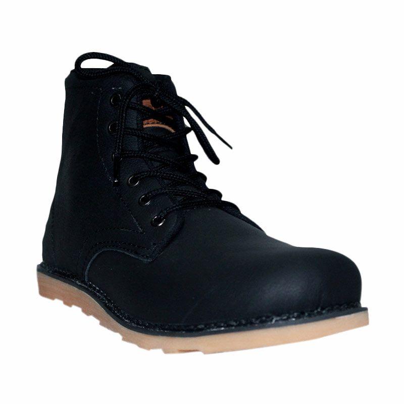 Island Shoes Sepatu Boots Genuine Leather Black