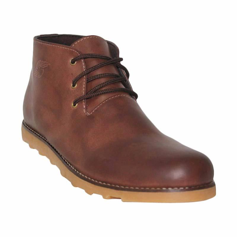 Island Shoes Boots Manhood Leather Brown