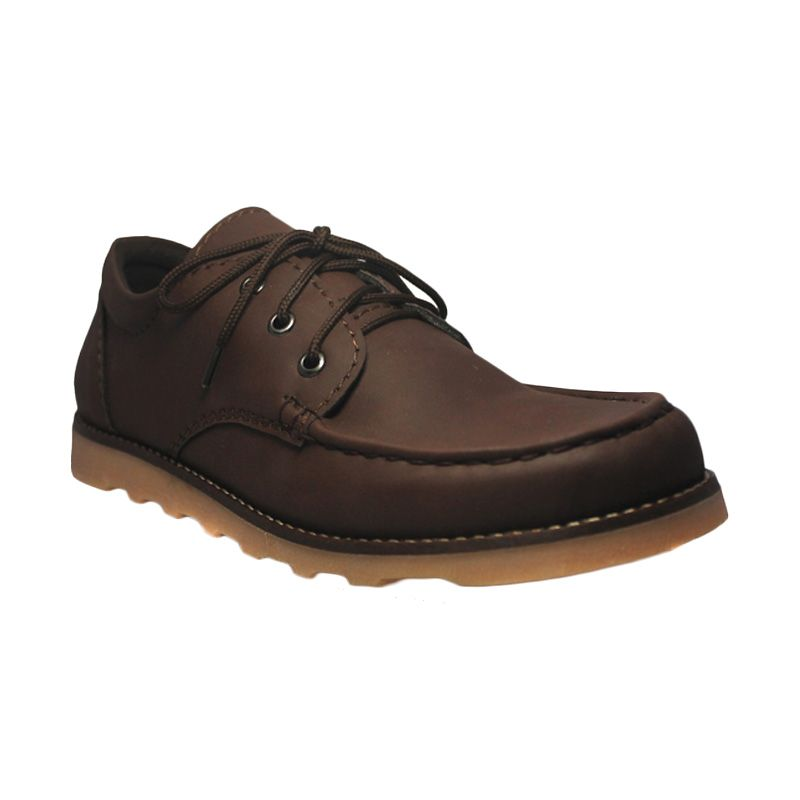 Island Shoes Boots Urban Leather Brown Sepatu Pria