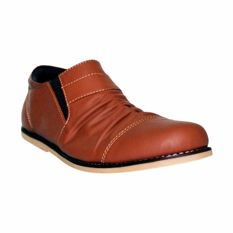 Island Shoes Sepatu Casual Slip On Leather Brown