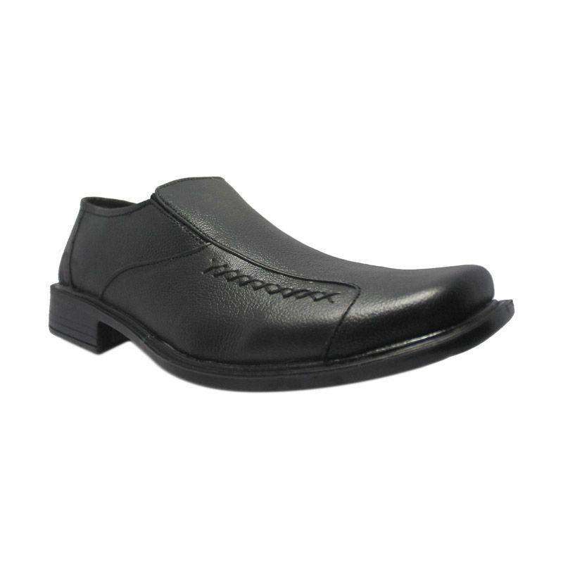 Island Shoes Formal Slip On Black Sepatu Pria