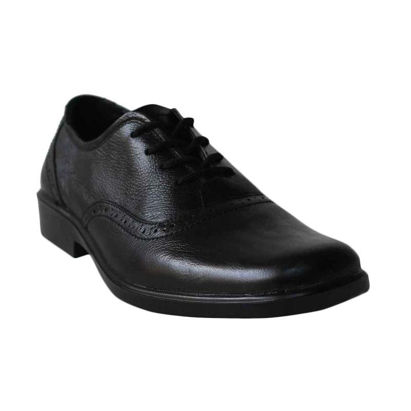 D-Island Shoes Formal Wingtip Genuine Leather Black