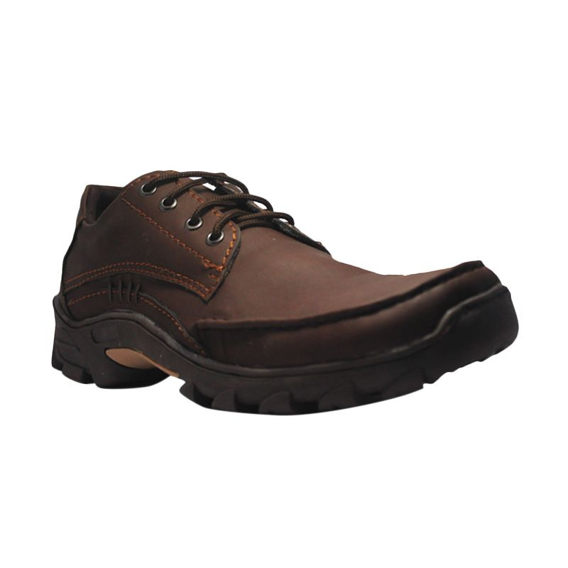 Island Shoes England  Brown Leather Boots Sepatu Pria