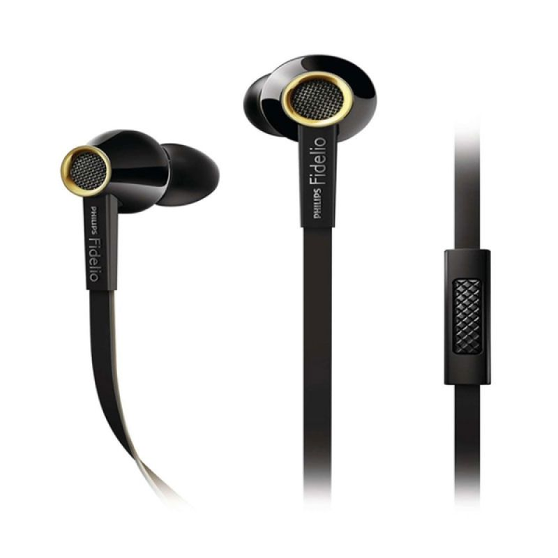 Philips Fidelio S2 BK Hitam Earphone