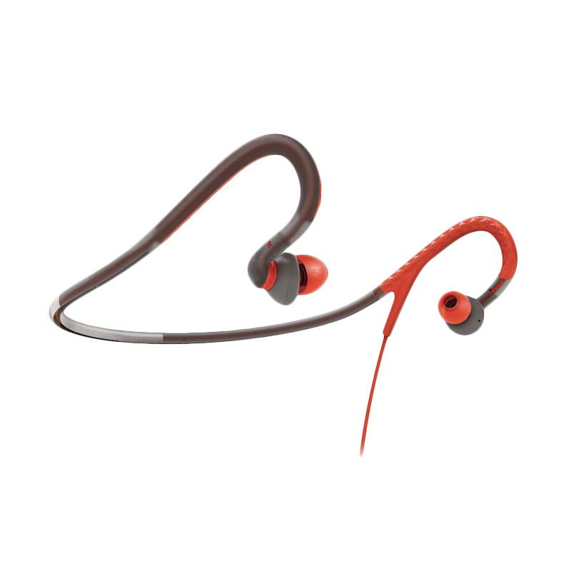 Philips SHQ 4200 Orange Abu-Abu Neckband Sport Headphone