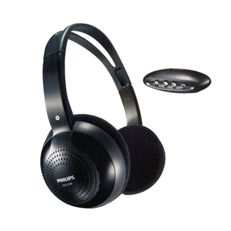 Philips Wireless Hi-fi SHC1300 Hitam Headphone
