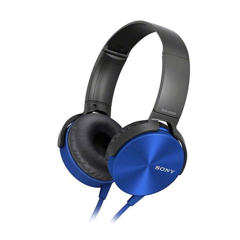 Sony MDR XB450AP Biru Headphone