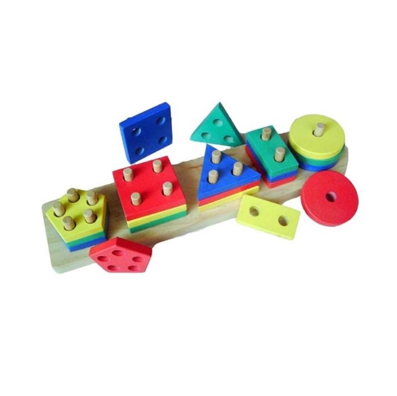 Istana Bintang Geo 5 Bentuk Mainan Kayu