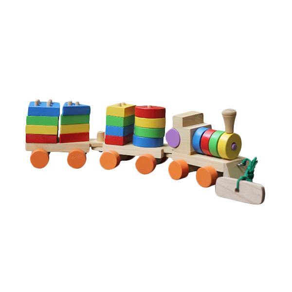 Istana Bintang Kayu Kereta Geo Besar Mainan Anak