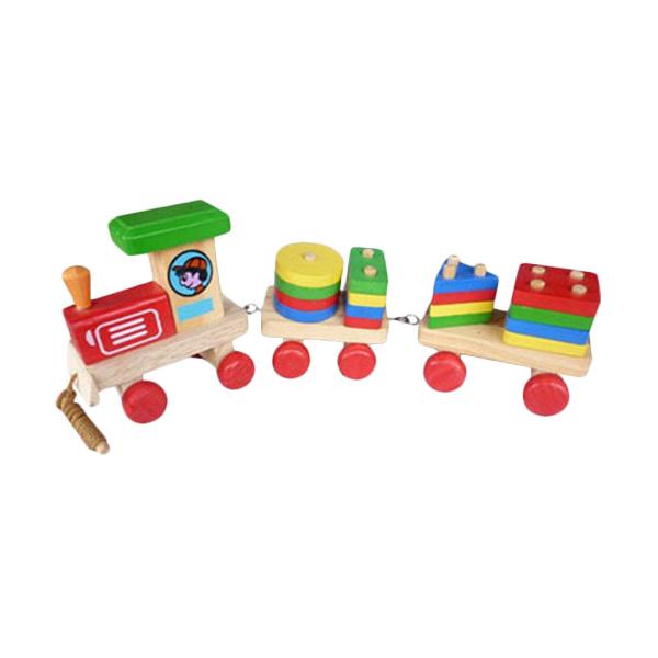 Istana Bintang Kayu Kereta Geo Kecil Mainan Anak