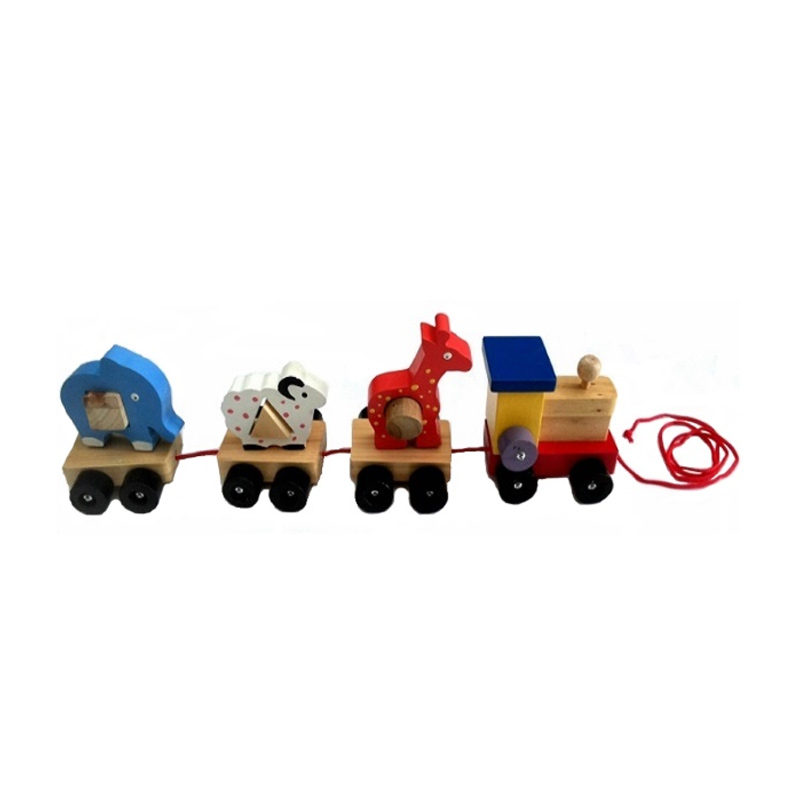 Istana Bintang Kayu Kereta Hewan Mainan Anak