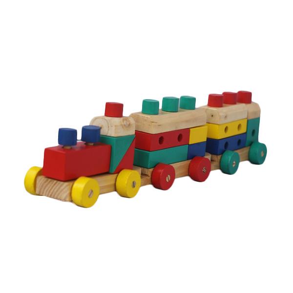 Istana Bintang Kayu Kereta Mainan Anak [5 in 1]