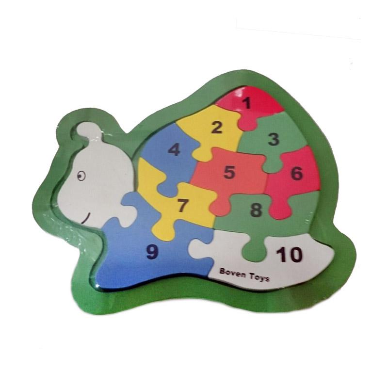 Istana Bintang Kayu Puzzle Jumbo Siput Mainan Anak