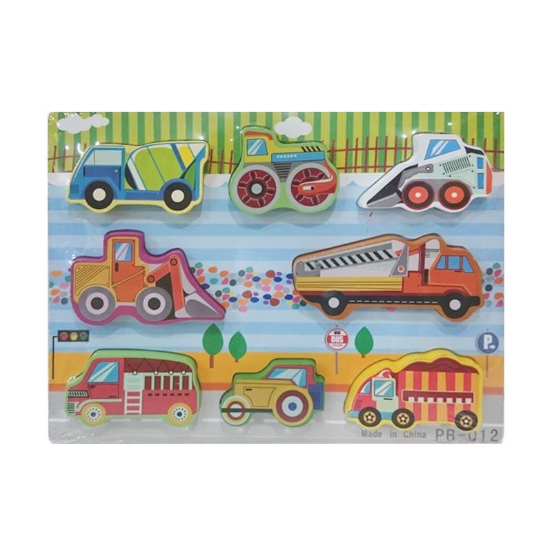 Istana Bintang Mainan Kayu Chunky Puzzle Transport B Mainan Anak