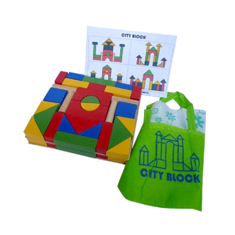 Istana Bintang Mainan Kayu City Block A60 Mainan Anak