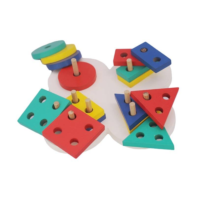 Istana Bintang Mainan Kayu Geo Bentuk Bunga Mainan Anak