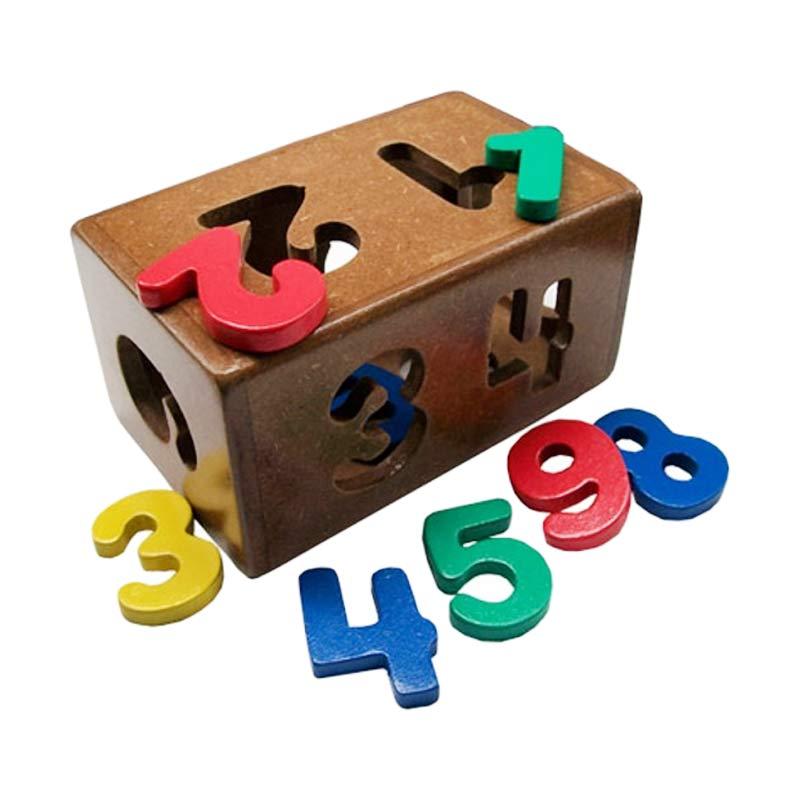 Istana Bintang Mainan Kayu Kotak Angka Mainan Anak