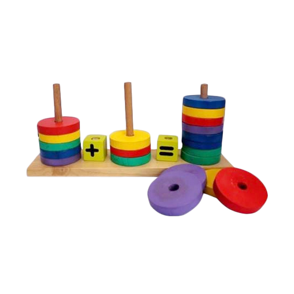 Istana Bintang Mainan Kayu Lingkaran Hitung Mainan Anak