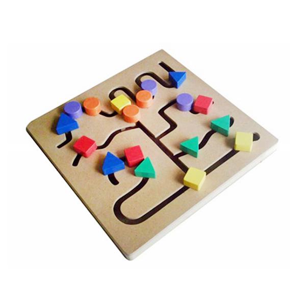 Istana Bintang Kayu Maze Bentuk Mainan Anak