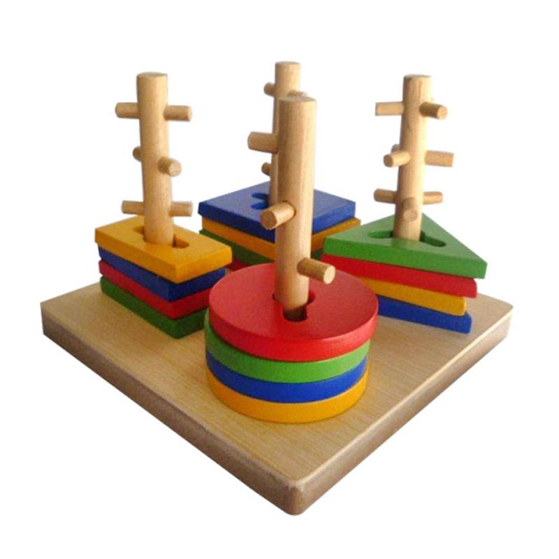 Istana Bintang Mainan Kayu Menara Kunci 4 Mainan Anak